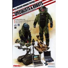 U.S EXPLOSIVE ORDNANCE DISPOSAL SPECIALISTS & ROBOTS